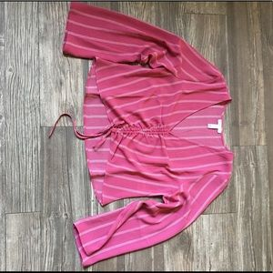 Leith pink and white stripped blouse